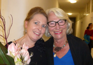 Ingrid Franz mit Frau Sarré (Musikadademie)
